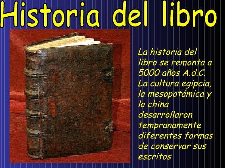 historia del libro 1