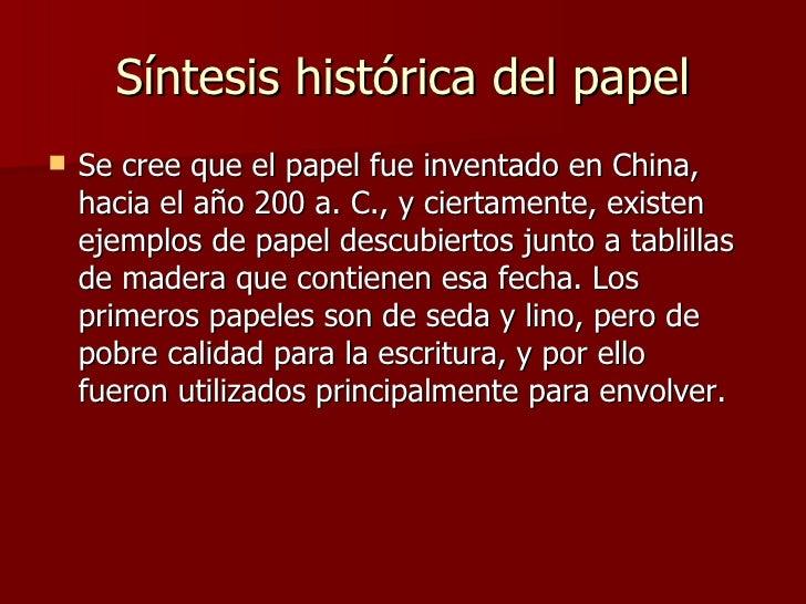Historia Del Papel Slide 2