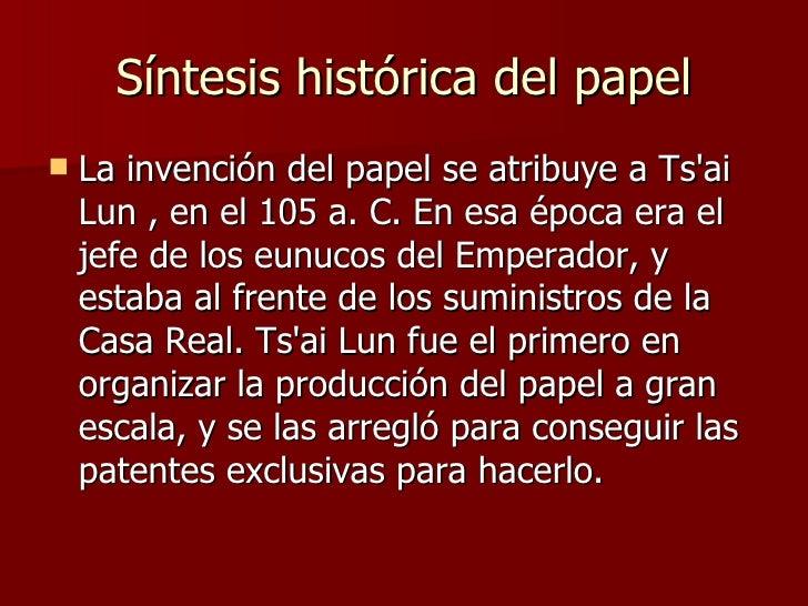 Historia Del Papel Slide 3