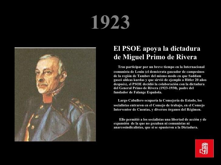 Resultado de imagen de PSOE PRIMO DE RIVERA