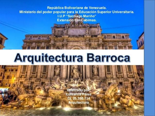Historia ll arquitectura barroca for Inicios de la arquitectura