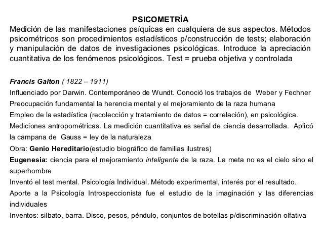 PSICOMETRÍAMedición de las manifestaciones psíquicas en cualquiera de sus aspectos. Métodospsicométricos son procedimiento...