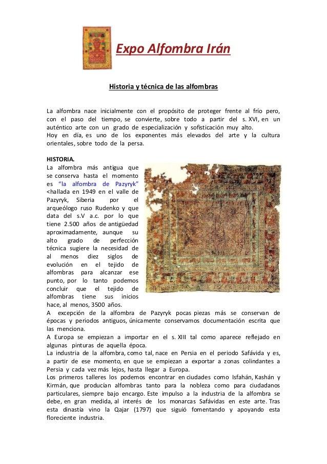 Historia y t cnica de las alfombras for Alfombras persas historia