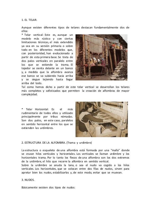 Historia y t cnica de las alfombras for Diferentes tipos de alfombras
