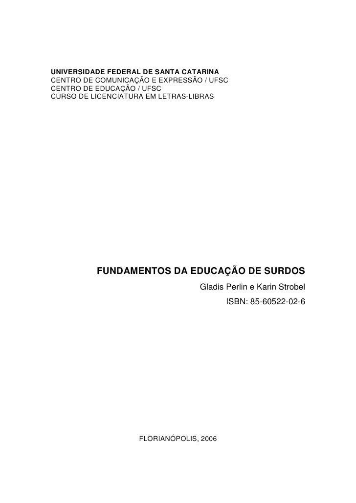 Historia1 texto base fundamentos da educação de surdos