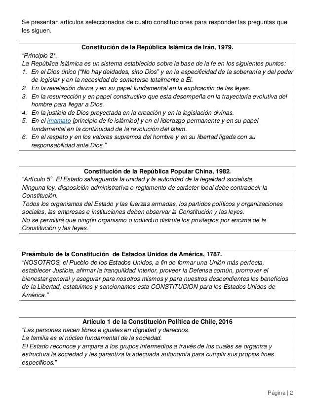 Historia 4° medio - Comparación de las Constituciones de Irán, China, EE.UU. y Chile Slide 2