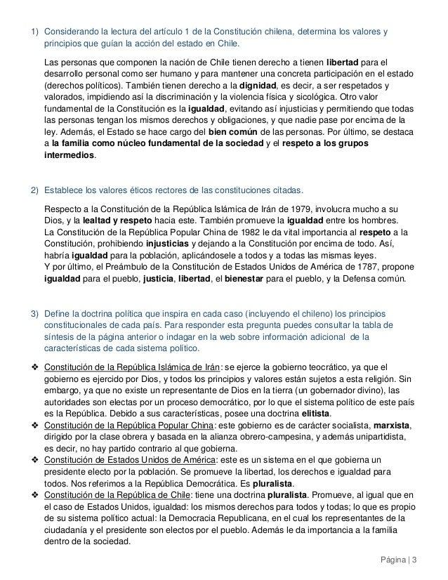 Historia 4° medio - Comparación de las Constituciones de Irán, China, EE.UU. y Chile Slide 3
