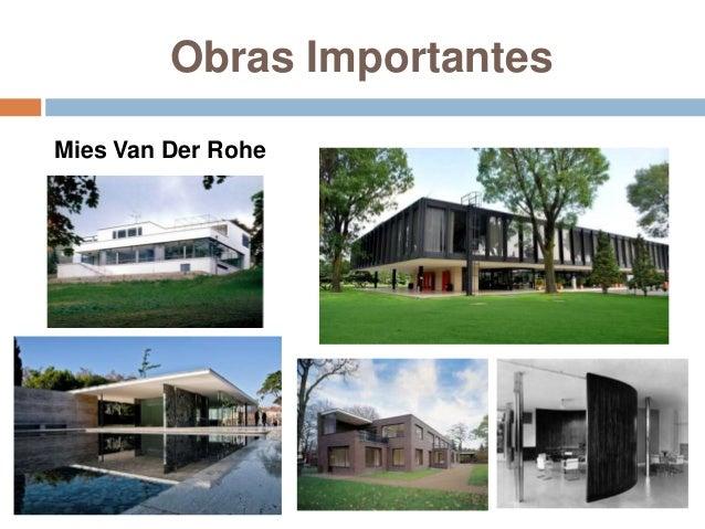 Historia 4 movimientos arquitect nicos en europa y - Casa perls mies van der rohe ...