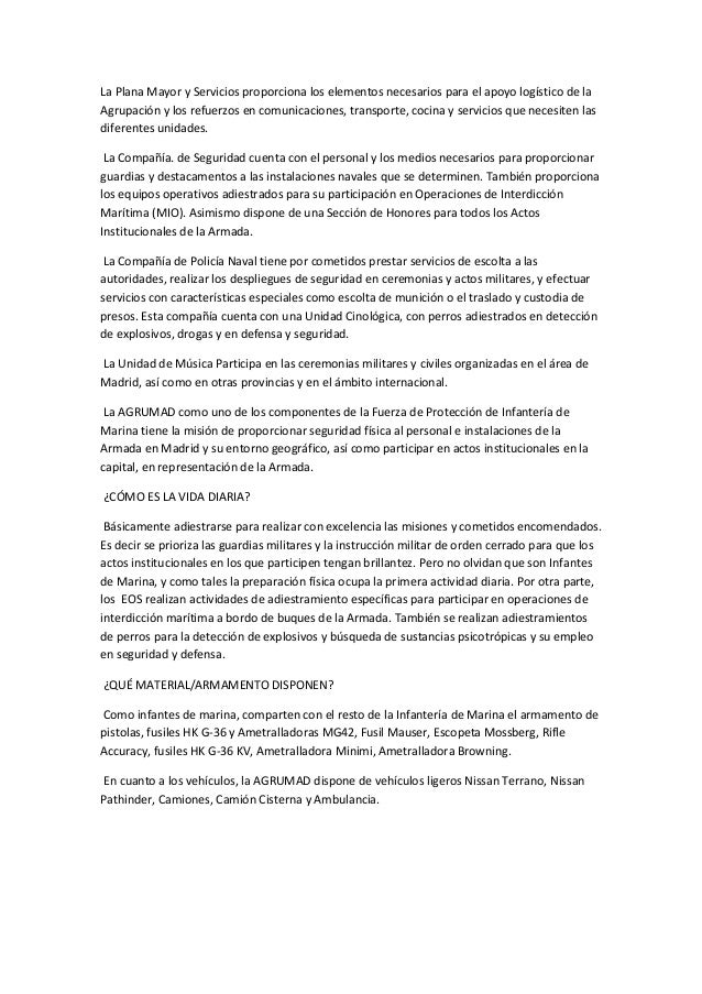 La Plana Mayor y Servicios proporciona los elementos necesarios para el apoyo logístico de la Agrupación y los refuerzos e...