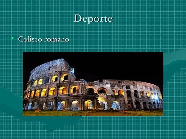 DeporteDeporte • Coliseo romanoColiseo romano