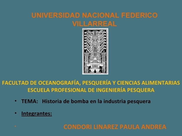 UNIVERSIDAD NACIONAL FEDERICO VILLARREAL FACULTAD DE OCEANOGRAFÍA, PESQUERÍA Y CIENCIAS ALIMENTARIAS ESCUELA PROFESIONAL D...