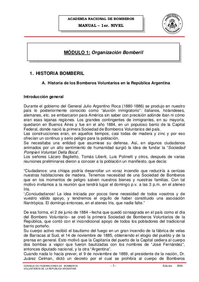 ACADEMIA NACIONAL DE BOMBEROS                                        MANUAL – 1er. NIVEL                           MÓDULO ...