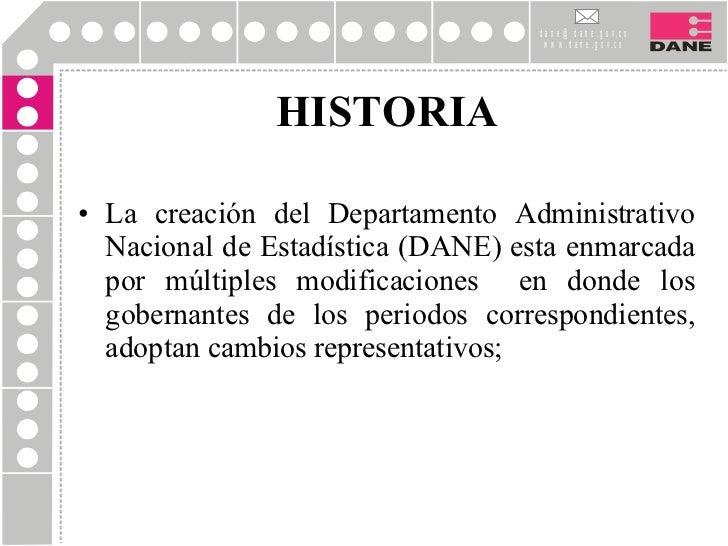 Historia del DANE