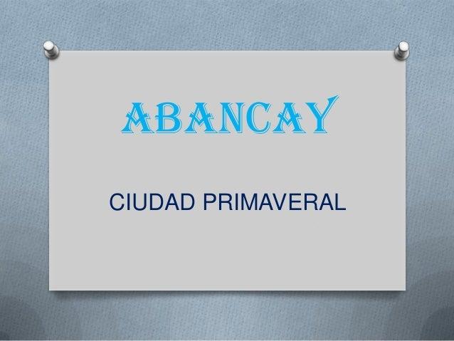 ABANCAY CIUDAD PRIMAVERAL