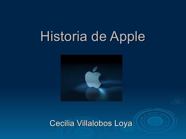 Historia de Apple Cecilia Villalobos Loya