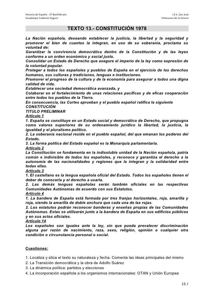 Historia de España - 2º Bachillerato                                                   I.E.S. San JoséGuadalupe Calderón S...
