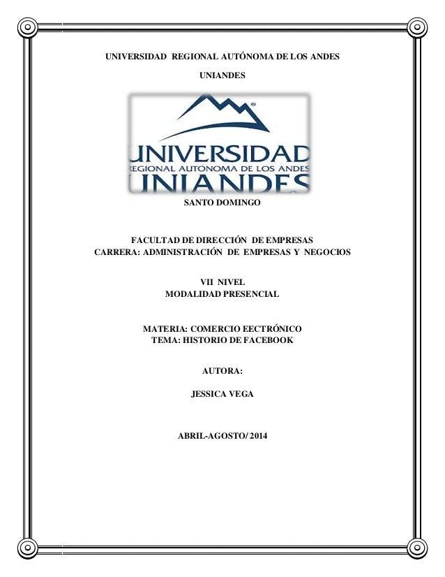 UNIVERSIDAD REGIONAL AUTÓNOMA DE LOS ANDES UNIANDES SANTO DOMINGO FACULTAD DE DIRECCIÓN DE EMPRESAS CARRERA: ADMINISTRACIÓ...