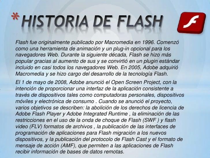 Historia de flash y sus versiones Slide 2