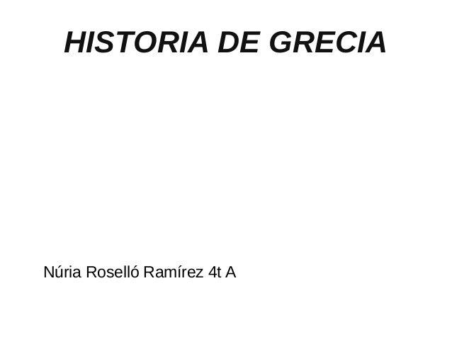 HISTORIA DE GRECIA Núria Roselló Ramírez 4t A