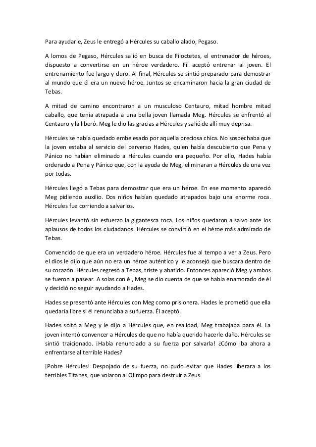 Historia De Hercules Para Ninos - Unifeed.club