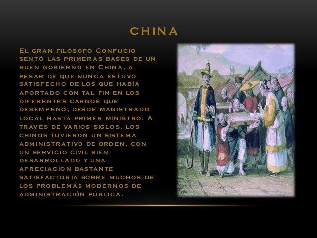 CH IN A El gran filó s o fo Con fu cio sen tó las prim er as bases de un buen gob ier n o en Chin a , a pes ar de que nun ...