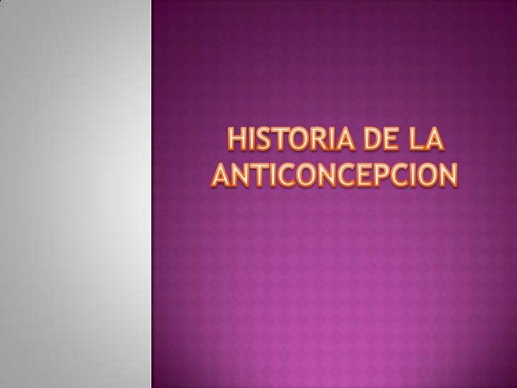 Historia de la anticoncepcion