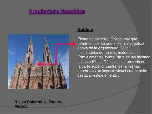 Elementos neocl sico neog tico ex tico for Definicion de estilo en arquitectura