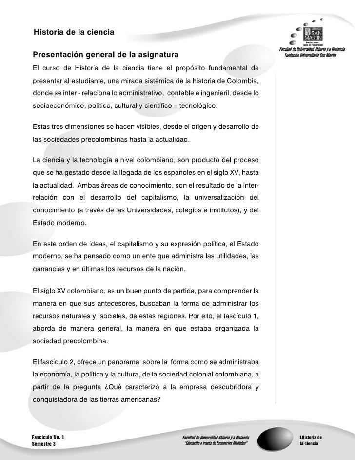 Historia de la ciencia                                                          1Presentación general de la asignaturaEl c...