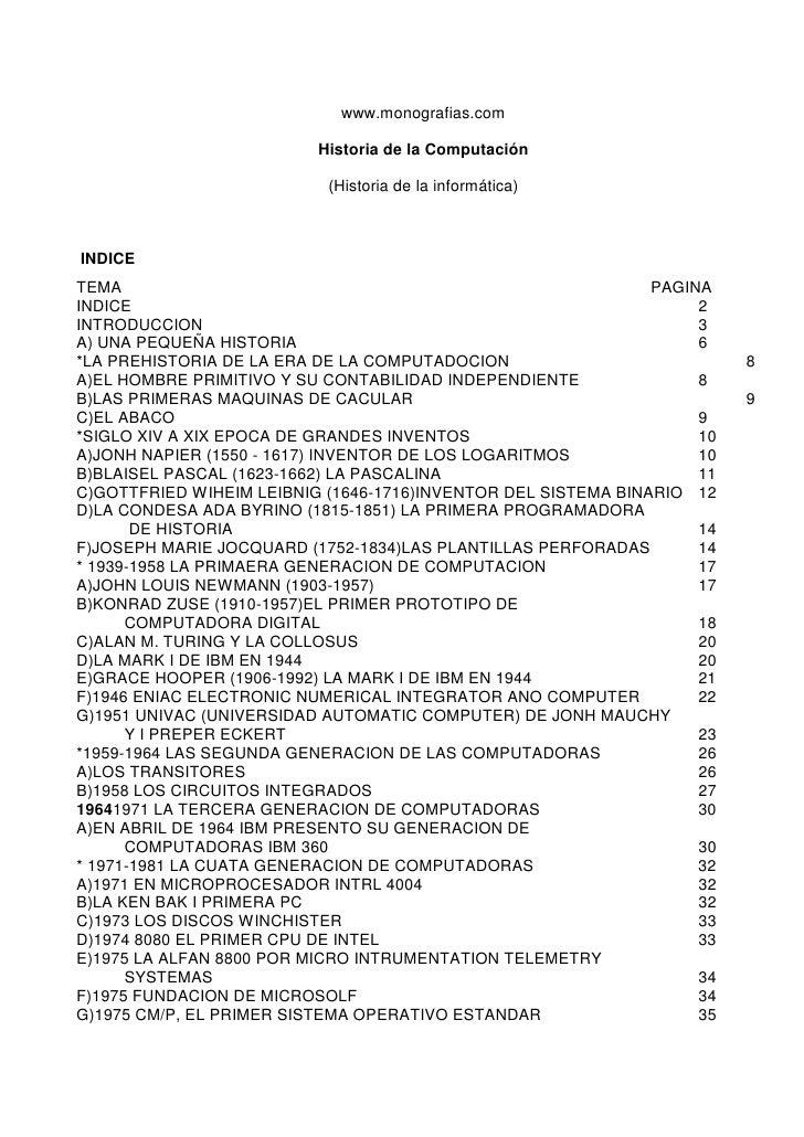 Historia de la computación www monografias com