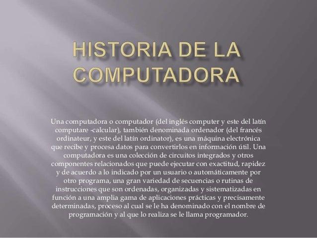 Historia de la computadora - photo#22