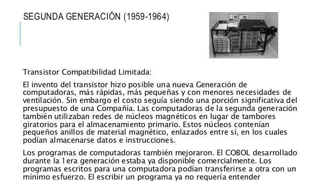 TERCERA GENERACIÓN (1964-1971) Las computadoras de la tercera generación emergieron con el desarrollo de los circuitos int...