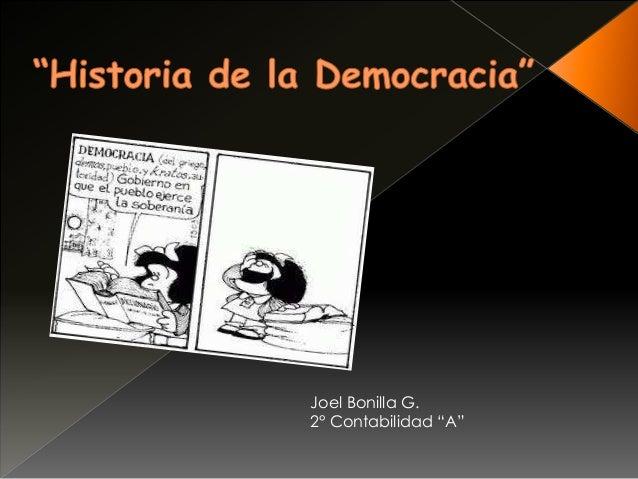 """Joel Bonilla G.2° Contabilidad """"A"""""""