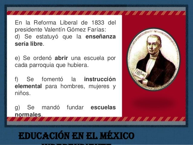 El pensamiento de José Ma. Luis Mora Durante la administración del presidente Valentín Gómez Farías entre 1833 y 1834, Jos...