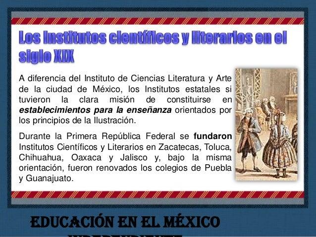 Institutos científicos y literarios o establecimientos afines existentes en el territorio nacional durante la década de lo...