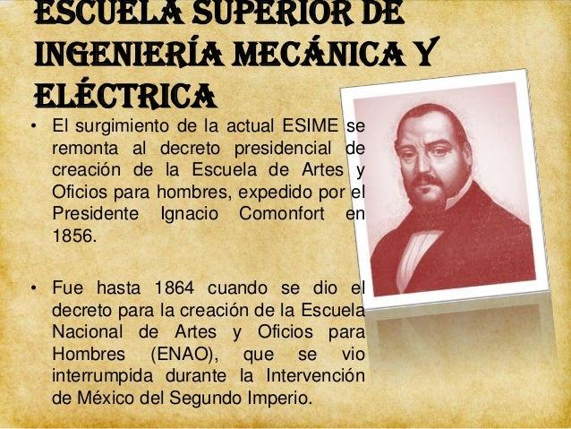 Escuela Superior de Ingeniería Mecánica y Eléctrica  • Por disposición del Presidente Benito Juárez el edificio del ex con...