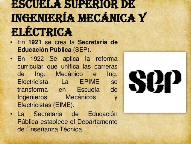 Escuela Superior de Ingeniería Mecánica y Eléctrica • Luis Enrique Erro como Jefe del Departamento de Enseñanza Técnica In...