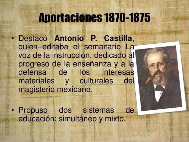 Aportaciones 1870-1875 • El sistema mixto consiste en la subdivisión de las clases en mayor número de secciones, y hacerse...