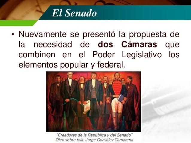 Se reinstaura el Senado  • Estos argumentos rindieron sus frutos cuando el 13 de noviembre de 1874 el Senado de la Repúbli...