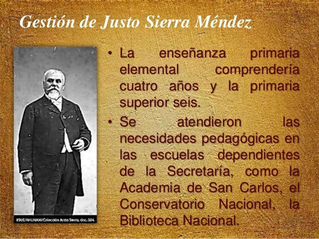 Gestión de Justo Sierra Méndez • La Secretaría se encargó de: – Del Instituto Patológico Nacional. – Del Registro de Propi...