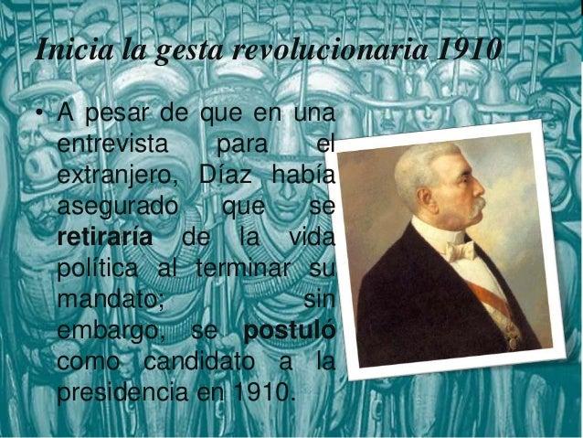"""Inicia la gesta revolucionaria 1910  • La bandera política del nuevo partido proclamaba como principio: """"Sufragio Efectivo..."""