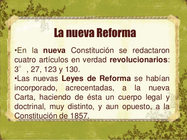Constitución de 1917 • • Art. 3° estableció la educación por parte del Estado y debe ser laica, gratuita y obligatoria. •E...