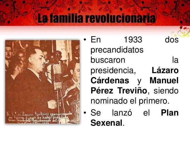 El corolario revolucionario: Cárdenas  • Lázaro Cárdenas se convirtió en presidente de la República para el primer período...