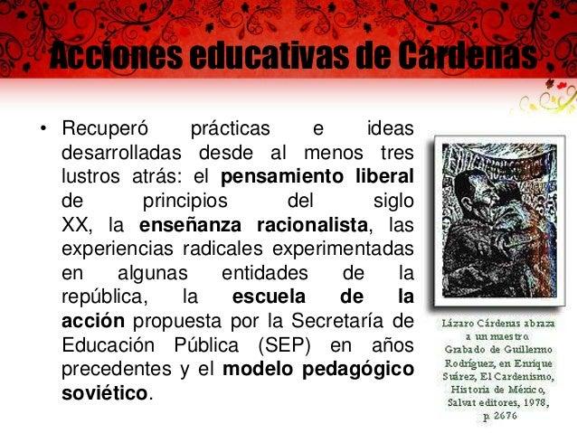 Acciones educativas de Cárdenas  Escuela primaria Ing. Efraín A. Gutiérrez exclusivamente para hijos de campesinos. Constr...
