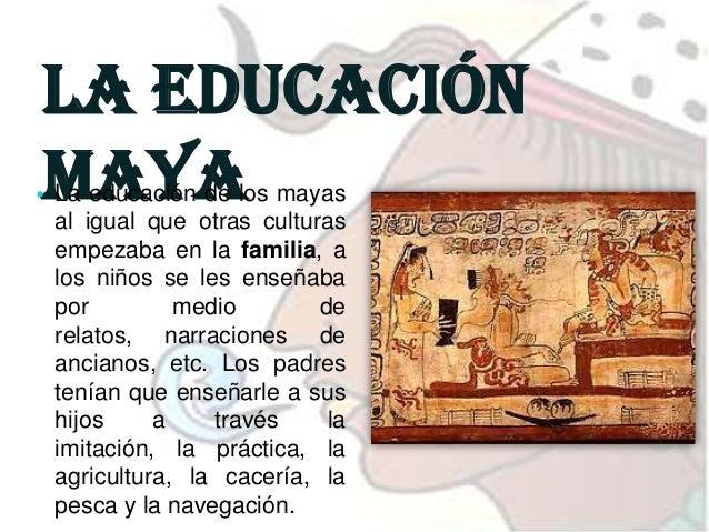 82  La educación maya • Cuando cumplían los doce años entraban a una escuela, estas eran de dos tipos: Uno para los descen...