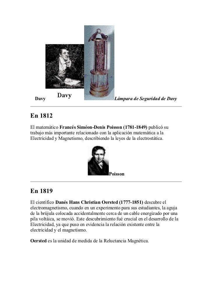 Davy                                      Lámpara de Seguridad de DavyEn 1812El matemático Francés Siméon-Denis Poisson (1...