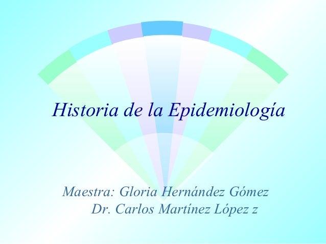 Historia de la Epidemiología  Maestra: Gloria Hernández Gómez Dr. Carlos Martínez López z