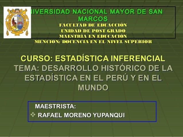 UNIVERSIDAD NACIONAL MAYOR DE SAN UNIVERSIDAD NACIONAL MAYOR DE SAN              MARCOS              MARCOS          FACUL...