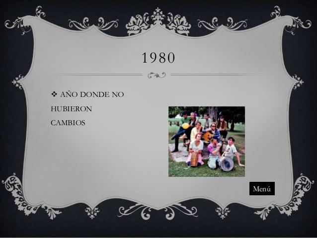 1980  AÑO DONDE NO HUBIERON CAMBIOS  Menú