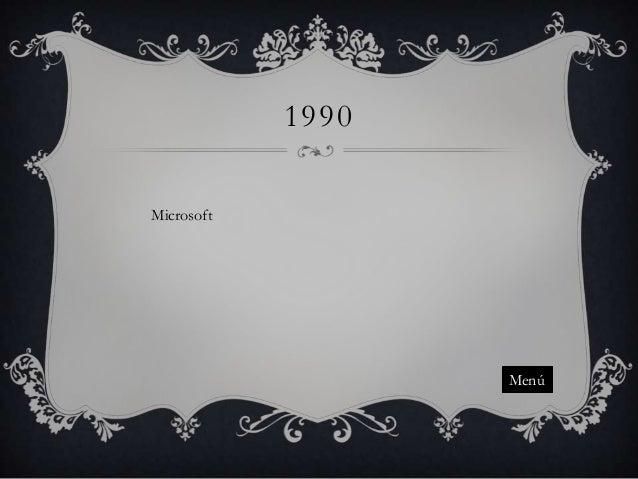 1990 Microsoft  Menú