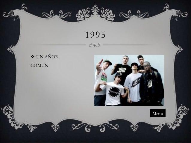 1995  UN AÑOR COMUN  Menú